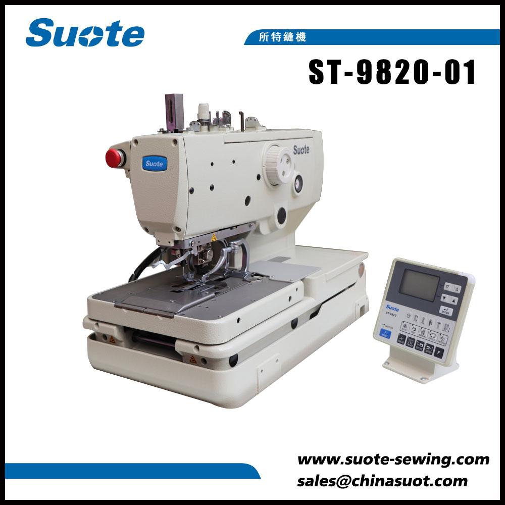 Elektronický šicí stroj s šnekovým knoflíkem